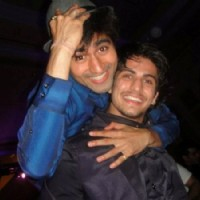 Harshad Chopra with his friend