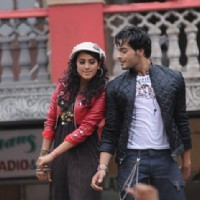 Additi Gupta and Angad Hasija during the shooting of Zara Nachke Dikha