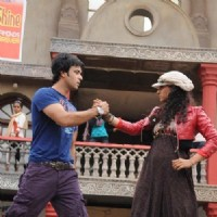 Additi Gupta and Aamir Ali Malik during the shooting of Zara Nachke Dikha