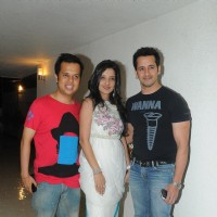 Luv Israni, Amy Billimoria, and Rakesh Paul at Pre Diwali terrace party