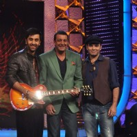 Ranbir Kapoor, Sanjay Dutt and Mohit Chauhan on the sets of Bigg Boss Season 5 at Karjat