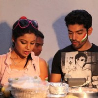 Gurmeet and Debina celebrating India's victory!
