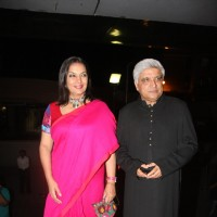Javed Akhtar and Shabana Azmi at premiere of 'Miley Naa Miley Hum' at Cinemax | Miley Naa Miley Hum Event Photo Gallery