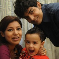 Gurmeet & Debina with Lucky at Pati Patni Aur Woh