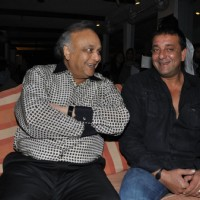 Sanjay Dutt with Bharat Shah launches film 'Ghost' music at Olive Kitchen and Bar at Bandra in Mumba