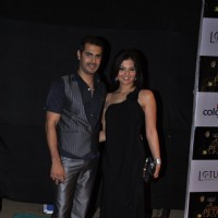 Deepshikha Nagpal and Kaishav Arora at Golden Petal Awards By Colors in Filmcity, Mumbai