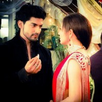 Gurmeet n Drashti in a still from the show GHSP