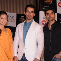 Drashti, Gurmeet and Abhinav at press conference of Geet