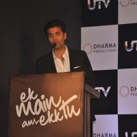 Director Karan Johar at their film 'Ek Main Aur Ekk Tu' first look launch at Hotel Taj Lands | Ek Main Aur Ekk Tu Event Photo Gallery