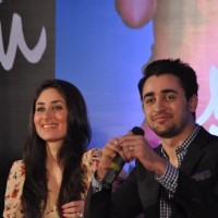 Imran Khan and Kareena Kapoor at their film 'Ek Main Aur Ekk Tu' first look launch at Hotel Taj Land | Ek Main Aur Ekk Tu Event Photo Gallery
