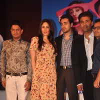 "Kareena, Imran Khan and Karan Johar unveiled the first look of film ""Ek Main Aur Ekk Tu"" at Taj Land 