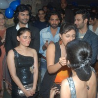 Sara, Rashmi, Mahhi, Nandish, Rohit and Gaurav grace Tina Dutta birthday bash at Kino's Cottage