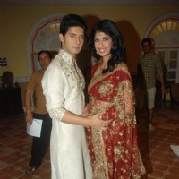 Aishwarya Sakhuja and Ravi Dubey cast of Sony TV's Saas Bina Sasural at Malad