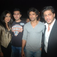 Priyanka Chopra, Ritesh Sidhwani, Farhan Akhtar, Shah Rukh Khan at Don 2 special screening at PVR | Don 2 Event Photo Gallery