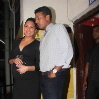 Lara Dutta with husband Mahesh at Don 2 special screening at PVR | Don 2 Event Photo Gallery