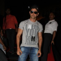 Hrithik Roshan gestures during the promo launch of film 'Agneepath' in Mumbai | Agneepath(2012) Event Photo Gallery