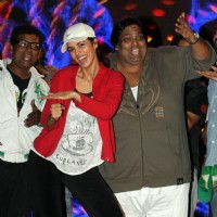 Mallika Sherawat & Choreographer Ganesh Acharya during the rehearsal for New Year Celebration in Mum
