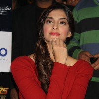 "Sonam Kapoor at ""Blu O"" to promote her film ""Players"", in New Delhi 
