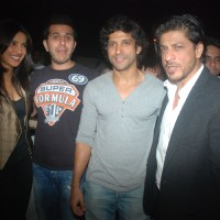 Priyanka Chopra, Ritesh Sidhwani, Farhan Akhtar, Shahrukh Khan at Don 2 special screening at PVR. . | Don 2 Event Photo Gallery