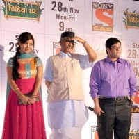 Debina with her co-stars in the launch party of Chidiya Ghar