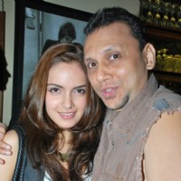 Manish Chheda with Shazahn Padamsee