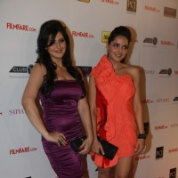 Zarine Khan & Shazahn Padamsee at 57th Filmfare Awards 2011 Nominations Party at Hotel Hyatt Regency
