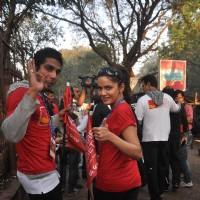 Prateik Babbar and Shazahn Padamsee at Standard Chartered Mumbai Marathon 2012 in Mumbai
