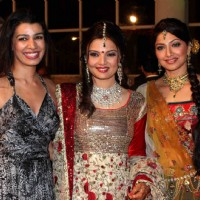 Mink Brar & Akruti grace Deepshikha Nagpal wedding reception in Mumbai