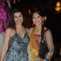 Mink Brar & Akruti grace Deepshikha Nagpal and Kaishav wedding reception in Mumbai