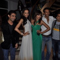 Milind, Omi, Tarana, Mazher, Dipannita at Music launch of movie 'Jodi Breakers' at Goregaon