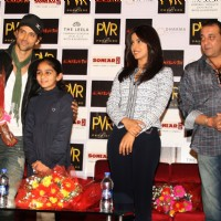 Sanjay Dutt, Priyanka and Hrithik at PVR Gurgaon to promote their film 'Agneepath' in New Delhi | Agneepath(2012) Event Photo Gallery