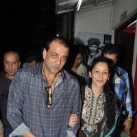 Sanjay Dutt with Manyata at Special screening of the film 'Agneepath' at PVR Juhu in Mumbai | Agneepath(2012) Event Photo Gallery