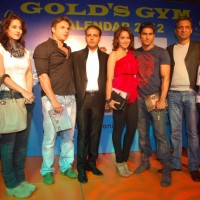 Tulip, Prateik, Shazahn and Sohail Khan at Gold Gym calendar launch in Bandra, Mumbai