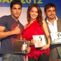 Prateik Babbar & Shazahn at Gold Gym calendar launch in Bandra, Mumbai