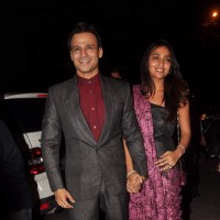 Vivek Oberoi with wife at Sanjay Dutt's bash for Agneepath | Agneepath(2012) Event Photo Gallery