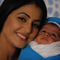 Akshara with her new born baby boy in tv show Ye Rishta Kya Kehlata Hai