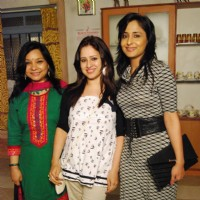 Pooja Joshi, Lata Saberwal at Rajan Shahi's  on the set get together for Jamuna Paar