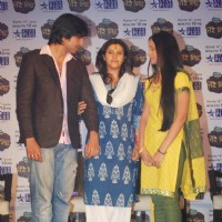 Harshad Chopda and Anupriya Kapoor with Ekta Kapoor in Tere Liye Launch