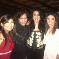 Pooja, Sky and Rageshwari at Juhi's winning party of Bigg Boss
