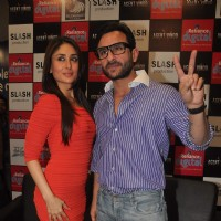 Saif Ali Khan and Kareena Kapoor promoting their next film Agent Vinod at Kurla. . | Agent Vinod Event Photo Gallery