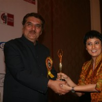 Raza Murad and Meghna Malik at Golden Achiever Awards 2012