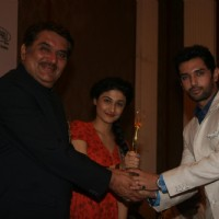 Raza Murad, Ragini Khanna and Chirag Paswan at Golden Achiever Awards 2012