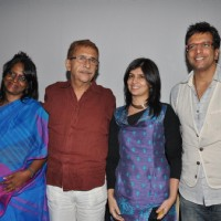 Naseeruddin Shah, Miriam Chandy, and Jaaved Jaaferi at 'The Rat Race' screening
