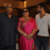 "Jackky Bhagnani, Kirron Kher and Boney Kapoor during the Mahurat of Movie ""Ajab Gazabb Love"" 