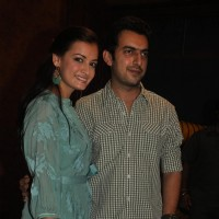 "Dia Mirza and Sahil Sangha during the Mahurat of Movie ""Ajab Gazabb Love"" 