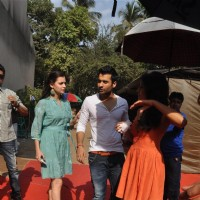 "Dia Mirza, Jackky Bhagnani and Nidhi Subbaiah during the Mahurat of Movie ""Ajab Gazabb Love"" 