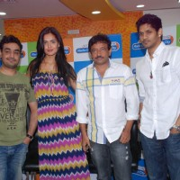 Nathalia Kaur and Ram Gopal Varma at Radio City in Mumbai