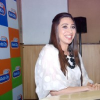 Karisma Kapoor visited Radio City 91.1 FM studio to promote upcoming thriller, 'Dangerous Ishq.' | Dangerous Ishq Event Photo Gallery