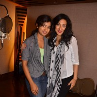 Shreya Ghoshal and Rituparna Sengupta at Teen Kaniya song recording at Kailasha recording studio
