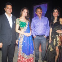 Susheel Sharma, Shazahn Padamsee, Vivek Jain and Shibani Kashyap at the Gitanjali Fashion Show